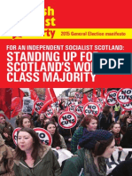 Scottish Socialist Party launches 2015 manifesto