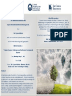 Invitation - Lecture - Michel Jarraud - Climate Change - 11 May 2015