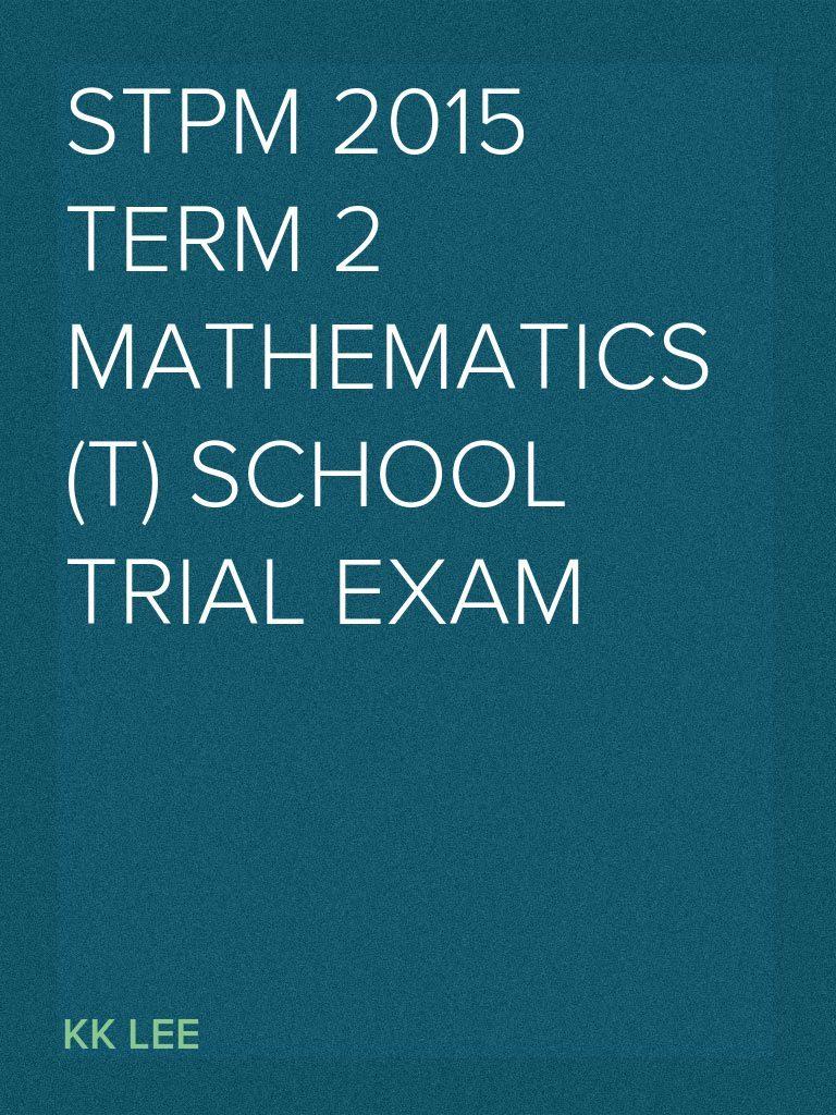 trial exam further maths ebook