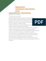 Perkembangan Perekonomian Indonesia Pada Masa Demokrasi