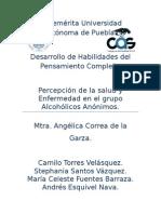 Salud y enfermedad Alcohólicos Anonimos.