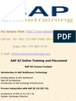 SAP XI Online Training and Placement - SAP XI DEMO - Online Training in SAP
