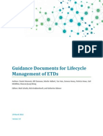 Guidance Documents for Lifecycle Management of ETDs