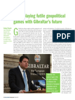 150420 the Parliament Magazine- Especial Gibraltar- Fabian Picardo- Spain Playing Futile Geopolitical Games With Gibraltar's Future