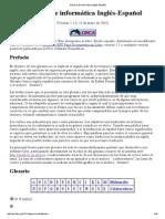 Glosario de Infor Glosario de informática Inglés-Españolmática Inglés-Español