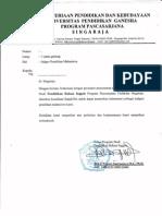 Surat Pengantar Judges