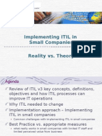 Implementing  ITIL