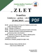 Izlet - Greben Ivancice
