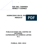 Homicidio en El Pueblo Mágico.