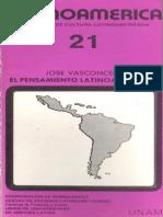 Vasconcelos Jose_El Pensamiento Latinoamericano