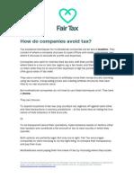 How Companies Avoid Tax
