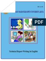 Techincal Report Writing in English