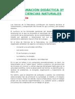 Programación Lomce 3º Ciencias Naturales