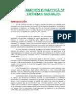 Programación Lomce 5º Ciencias Sociales