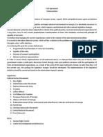Civil Agreement Memorandum on Election System