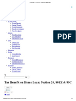 Tax Benefit on Home Loan_ Section 24, 80EE & 80C