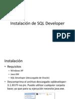 Instalacion de SQL Developer