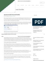 Dynamics AX 2012 Year-End Checklist