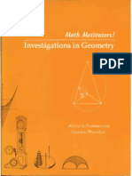 Math Motivators- Investigations in Geometry 1982