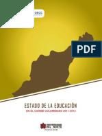 Estado de La Educación en el Caribe colombiano 2011-2013