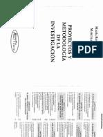 Proyecto y Metodología de La Investigación