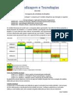 Cronograma de Actividades Da Disciplina - AprenTIC 14-15