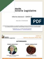 Informe Electoral - PASO- Santa Fe