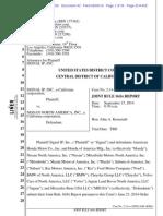 MARA  - Joint Rule 16(b) Report