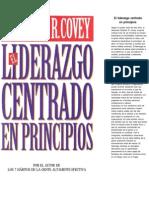 Covey Stephen R - El Liderazgo Centrado En Principios.pdf