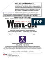 WeevilCide Manual SPANISH