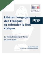 Rapport de Claude Bartolone sur l'engagement et le lien civique