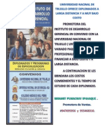 Universidad Nacinal de Trujillo Ofrece Diplomados a Larga Distancia y a Muy Bajo Costo