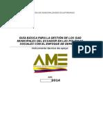 Guia Basica Para La Gestion de Los Gad Municipales Del Ecuador en Las Politicas Sociales Con El Enfoque de Derechos