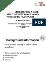 Modern Beekeeping a Case Study of West Pokot Honey Processing Pilot Plant
