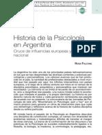 Falcone 2010 Historia Psicologia en Argentina, Cruce de Influencias Europeas y Caracter Nacional