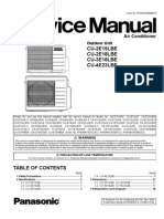 Panasonic Air Condicioner CU-2E15LBE Service Manual