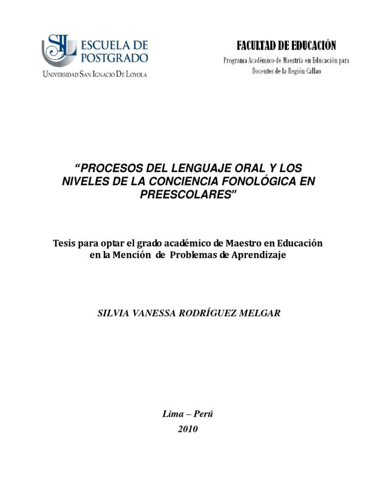 pregunta 2 2010_Rodríguez_Procesos-de-lenguaje-oral-y-los-niveles-de ...