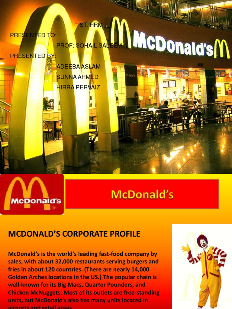 methodology of mcdonalds