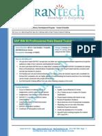 Sap Bw Bi Competency Dev Program Zarantech
