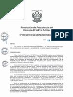 Resolución N°050-2015-COSUSINEACE-CDAH-P