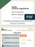Informe Postelectoral - SANTA FE y MENDOZA