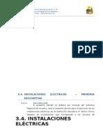 3.4. Instalaciones Eléctricas
