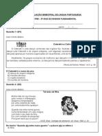 Avaliação Bimestral de Lingua Portuguesa 1º Bimestre
