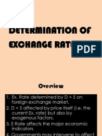 Determination of Exchange Rates 97-03