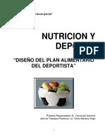 Diseño Del Plan Alimentario Del Deportista