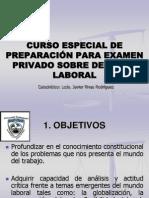 Curso Especial de Preparación Para Examen Privado Sobre derecho laboral