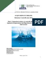 report 2011 acque reflue urbane