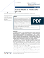 financial performance of merger and acquistion of Banks in pakistan