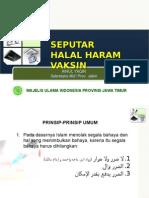 Halal Haram Vaksin,Mui Prov