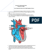 Lecture 22 Human Physiology Heart as a Pump